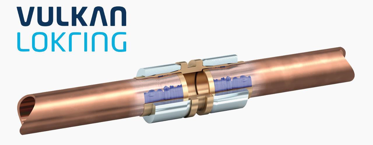 O patenteado sistema Lokring de conexão de tubos, fornece um sistema inovador de uniões de tubo sem solda para qualquer situação de instalação de refrigeração e ar condicionado.